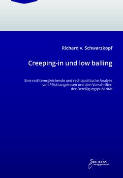 Creeping-in und low balling von von Schwarzkopf,  Richard