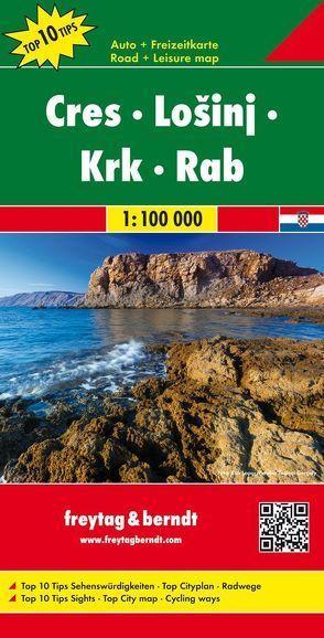 Cres – Lošinj – Krk – Rab, Autokarte 1:100.000