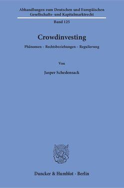 Crowdinvesting. von Schedensack,  Jasper