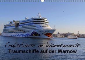 Cruiseliner in Warnemünde (Wandkalender 2018 DIN A3 quer) von le Plat,  Patrick