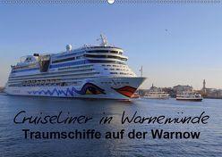 Cruiseliner in Warnemünde (Wandkalender 2019 DIN A2 quer) von le Plat,  Patrick
