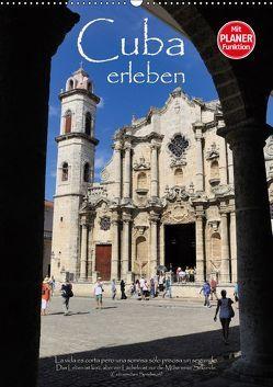 Cuba erleben (Wandkalender 2019 DIN A2 hoch) von Thiel,  Elmar