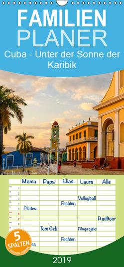 Cuba – Unter der Sonne der Karibik – Familienplaner hoch (Wandkalender 2019 , 21 cm x 45 cm, hoch) von Benninghofen,  Jens