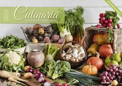 Culinaria 2020 – Der große Küchenkalender – Bildkalender (42 x 60 geöffnet) – Rezeptkalender – inkl. Saisonkalender – Küchenplaner von ALPHA EDITION