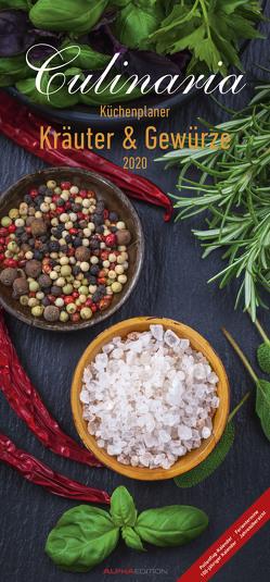 Culinaria Küchenplaner Kräuter und Gewürze 2020 – Küchenkalender (22 x 45) – mit Küchentipps und Rezepten – 5 Spalten – Wandplaner von ALPHA EDITION