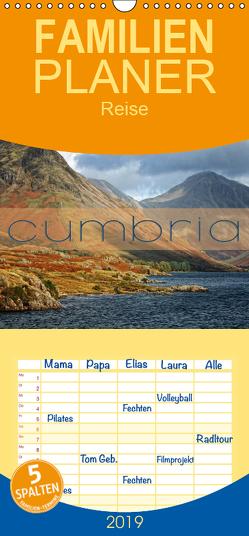 Cumbria – Familienplaner hoch (Wandkalender 2019 , 21 cm x 45 cm, hoch) von Cross,  Martina
