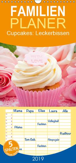 Cupcakes: Leckerbissen – Familienplaner hoch (Wandkalender 2019 , 21 cm x 45 cm, hoch) von CALVENDO