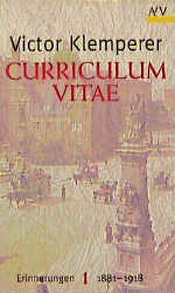 Curriculum vitae von Klemperer,  Victor, Nowojski,  Walter