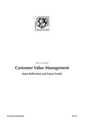 Customer Value Management von Verhoef,  Peter C.