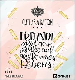 Cute as a button 2022 – Postkarten-Kalender – Kalender-mit-Postkarten – zum-raustrennen – 16×17