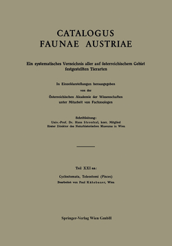 Cyclostomata, Teleostomi (Pisces) von Kähsbauer,  Paul