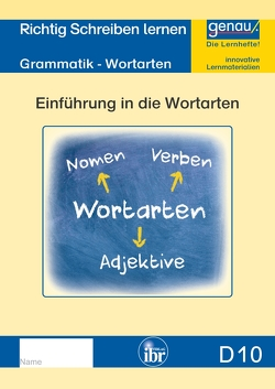D10 – Grammatik – Einführung in die Wortarten von Henkel,  Cornelia