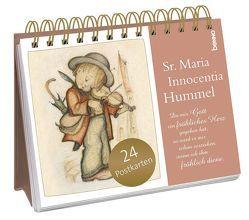 Postkarten-Aufsteller »Da mir Gott ein fröhliches Herz gegeben hat, …« von Hummel,  Sr. Maria Innocentia