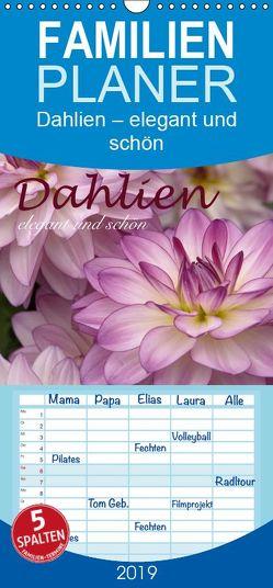 Dahlien – elegant und schön – Familienplaner hoch (Wandkalender 2019 , 21 cm x 45 cm, hoch) von Barig,  Joachim