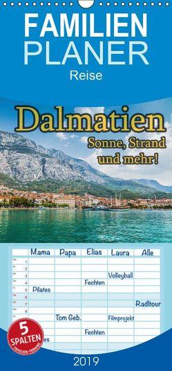 Dalmatien – Sonne, Strand und mehr – Familienplaner hoch (Wandkalender 2019 , 21 cm x 45 cm, hoch) von Sobottka,  Joerg