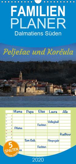 Dalmatiens Süden, Peljesac und Korcula – Familienplaner hoch (Wandkalender 2020 , 21 cm x 45 cm, hoch) von Braun,  Werner