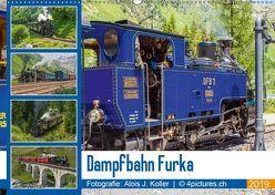 Dampfbahn Furka 2019CH-Version (Wandkalender 2019 DIN A2 quer) von J. Koller 4Pictures.ch,  Alois