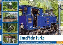 Dampfbahn Furka 2019CH-Version (Wandkalender 2019 DIN A3 quer) von J. Koller 4Pictures.ch,  Alois