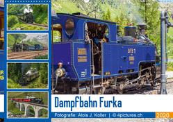 Dampfbahn Furka 2020CH-Version (Wandkalender 2020 DIN A2 quer) von J. Koller 4Pictures.ch,  Alois