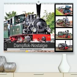 Dampflok-Nostalgie – 2020 schwergewichtige Lokomotiven (Premium, hochwertiger DIN A2 Wandkalender 2020, Kunstdruck in Hochglanz) von Klünder,  Günther