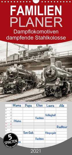 Dampflokomotiven – dampfende Stahlkolosse – Familienplaner hoch (Wandkalender 2021 , 21 cm x 45 cm, hoch) von Brunner-Klaus,  Liselotte