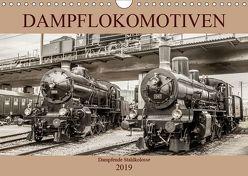 Dampflokomotiven – dampfende Stahlkolosse (Wandkalender 2019 DIN A4 quer) von Brunner-Klaus,  Liselotte
