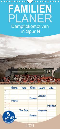 Dampflokomotiven in Spur N – Familienplaner hoch (Wandkalender 2021 , 21 cm x 45 cm, hoch) von Ritter Fotografie,  Christian