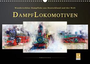 Dampflokomotiven – wunderschöne Dampfloks aus Deutschland und der Welt (Wandkalender 2020 DIN A3 quer) von Roder,  Peter