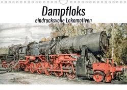 Dampfloks – eindrucksvolle Lokomotiven (Wandkalender 2021 DIN A4 quer) von Brunner-Klaus,  Liselotte