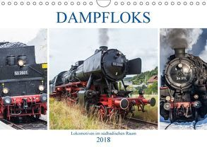 Dampfloks im südbadischen Raum (Wandkalender 2018 DIN A4 quer) von Brunner-Klaus,  Liselotte