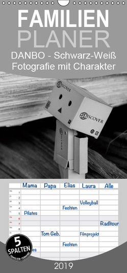 Danbo – Schwarz-Weiß Fotografie mit Charakter – Familienplaner hoch (Wandkalender 2019 , 21 cm x 45 cm, hoch) von Moßhammer,  Natalie