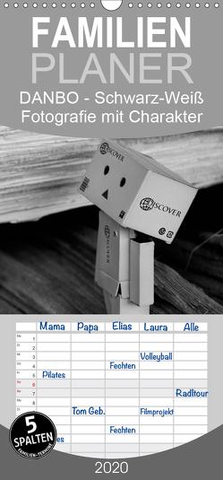 Danbo – Schwarz-Weiß Fotografie mit Charakter – Familienplaner hoch (Wandkalender 2020 , 21 cm x 45 cm, hoch) von Moßhammer,  Natalie