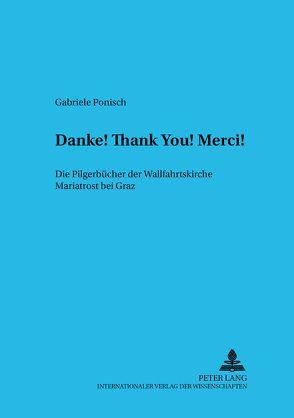 «Danke! Thank you! Merci!» von Ponisch,  Gabriele
