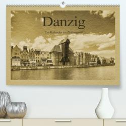 Danzig – Ein Kalender im Zeitungsstil (Premium, hochwertiger DIN A2 Wandkalender 2021, Kunstdruck in Hochglanz) von Kirsch,  Gunter