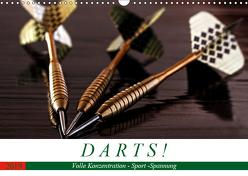 Darts. Konzentration – Sport – Spannung (Wandkalender 2019 DIN A3 quer) von Robert,  Boris