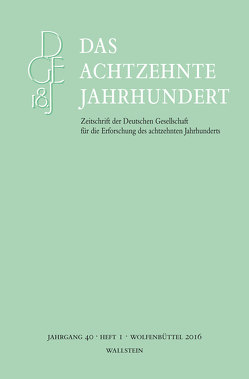 Das achtzehnte Jahrhundert 40/1 von Zelle,  Carsten