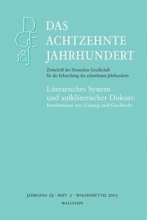 Das achtzehnte Jahrhundert. Zeitschrift der Deutschen Gesellschaft… von Fleig,  Anne, Meise,  Helga, Zelle,  Carsten
