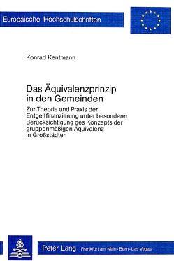 Das Äquivalenzprinzip in den Gemeinden von Kentmann,  Konrad