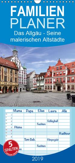 Das Allgäu – Seine malerischen Altstädte – Familienplaner hoch (Wandkalender 2019 , 21 cm x 45 cm, hoch) von Becker,  Thomas