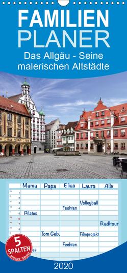 Das Allgäu – Seine malerischen Altstädte – Familienplaner hoch (Wandkalender 2020 , 21 cm x 45 cm, hoch) von Becker,  Thomas