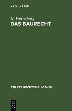 Das Baurecht von Werneburg,  H.