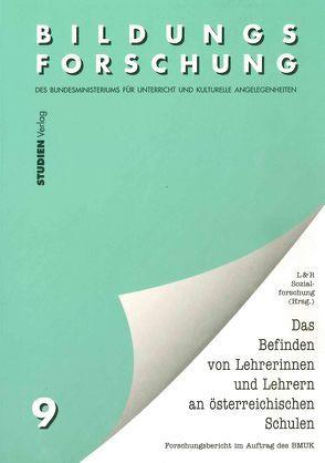 Das Befinden von Lehrerinnen und Lehrern an österreichischen Schulen von Lechner,  Ferdinand