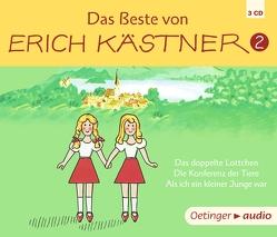 Das Beste von Erich Kästner 2 (3CD) von Clasen,  Sabine, Drache,  Heinz, Held,  Martin, Kaestner,  Erich, Söhnker,  Hans, Spier,  Tina, Trier,  Walter, Wunderlich,  Claus