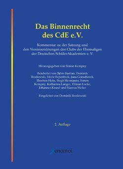 Das Binnenrecht des CdE e.V. von Kempny,  Simon