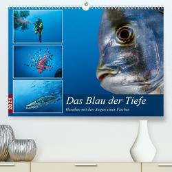 Das Blau der Tiefe (Premium, hochwertiger DIN A2 Wandkalender 2021, Kunstdruck in Hochglanz) von Gödecke,  Dieter
