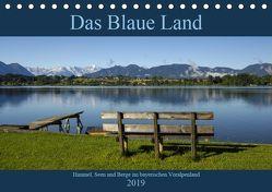 Das Blaue Land – Himmel, Seen und Berge im bayerischen Voralpenland (Tischkalender 2019 DIN A5 quer) von Wermter,  Christof