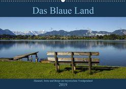 Das Blaue Land – Himmel, Seen und Berge im bayerischen Voralpenland (Wandkalender 2019 DIN A2 quer) von Wermter,  Christof
