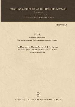 Das Bleichen von Pflanzenfasern mit Chlordioxyd von Lambrinoû,  Ingeborg