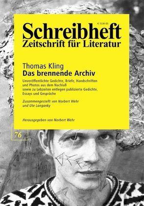 Das brennende Archiv von Kling,  Thomas, Langanky,  Ute, Wehr,  Norbert