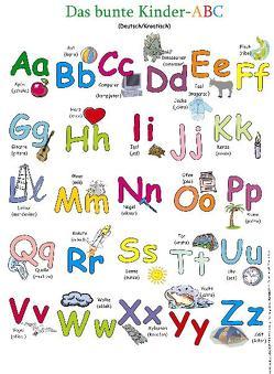 Das bunte Kinder-ABC. Poster von Momm-Zach,  Helga